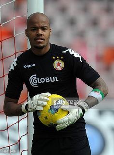 Rais M'Bolhi of PFC CSKA Sofia in action during the Bulgarian A PFG League match between PFC CSKA Sofia and PFC Litex Lovech held on May 19 2012 at...