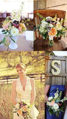 Country Wedding with wildflowers Nashville, TN | Flowers by Enchanted Florist, photo by Adele Reding