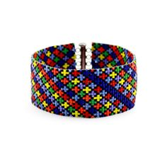 Free Shipping Worldwide! My bead loom bracelets are finely crafted hand woven glass tapestries. They are flexible, lightweight, and luxurious against the skin. Weaving threads attach directly to the clasp and seamlessly reinforce the work for unmatched durability. Rather than