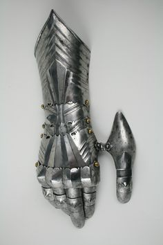 German Gauntlet for the right hand. c.1480.  Classic form for the 15th Century, highly stylised gothic type