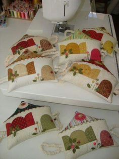 Casitas de patchwork.