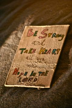 be strong//take heart