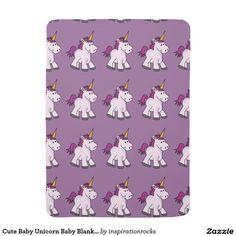Cute Baby Unicorn Baby Blanket
