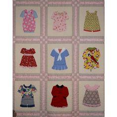 Love applique quilts for little girls