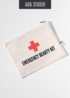 164fbf3b4ea0 AOA Canvas Pouch- Emergency Beauty Kit – Shop Miss A Diy Makeup Bag