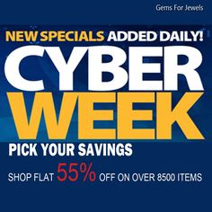 Check out our newly added items for the Cyber Week Sale - Shop flat 55% off on all items. Only on Gemsforjewels!! A wide range of semiprecious & precious gemstones, rough diamonds, rose cut diamonds.  Convo us for custom orders!