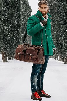 And since we've no place to go, let it snow, let it snow, let it snow. ☃️ 📸@niccocesari #weekendbag #weekendbags #snow #winter #January #outside #letitsnow #leatherbags #leather #handmade #menwithstyle #ootd #ootdwinter ##dressup #style #TheChesterfieldBrand #chesterfieldbags #honouryoursuccess #Wesley Leather Laptop Bag, Laptop Bags, Leather Bag, Weekend Bags, Ootd Winter, The Ch, Messenger Bag, January, Dress Up