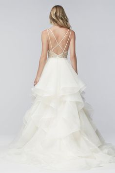 Love the back of this dress with the chiffon bottom. (Kennedy)