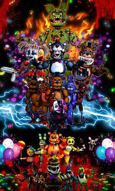 All of the FNAF gameeeeesss! Freddy S, Freddy Anime, Five Nights At Freddy's, Indie Games, Animatronic Fnaf, Fnaf Wallpapers, Fnaf Sister Location, Fnaf Characters, Freddy Fazbear
