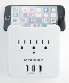 Look at this #zulilyfind! White 3.1-Amp Three-Outlet Triple USB Wall Plate Charger & Mount by Merkury Innovations #zulilyfinds