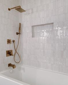 Riad Tile's delicate Snow Zellige Tile provides brightness to any space. Add it your kitchen, bathroom, backsplash or pool. Condo Bathroom, Guest Bathrooms, Upstairs Bathrooms, Bathroom Renos, Bathroom Ideas, Bathroom Wall Tiles, Master Bathroom, Brass Bathroom Fixtures, Baby Bathroom