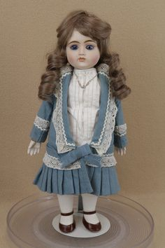 """16"""" Gorham Porcelain & Cloth French bisque head reproduction Doll Made in Japan"""