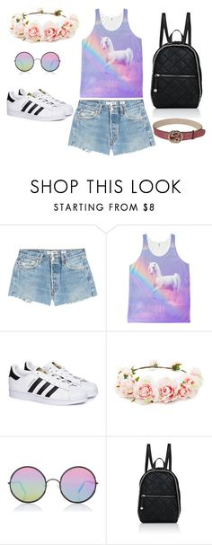 """""""Coachella 17'"""" by rebeca-frausto on Polyvore featuring RE/DONE, adidas, Forever 21, Sunday Somewhere, STELLA McCARTNEY y Gucci"""