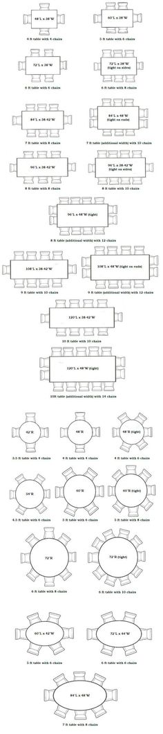 nice Seating Capacities for Dining Tables | These Diagrams Are Everything You Need To... by http://www.cool-homedecorations.xyz/dining-tables/seating-capacities-for-dining-tables-these-diagrams-are-everything-you-need-to/