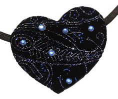 Velvet Heart Eye Patch Starry Night Black Blue by JenkittysCloset