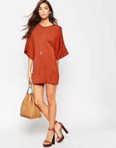 ASOS PETITE T-Shirt Dress with Kimono Sleeves
