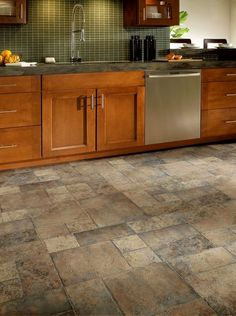 30 Practical And Cool-Looking Kitchen Flooring Ideas
