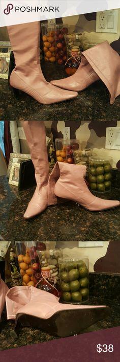 Pink Greatz! Sleek Pink Boots! Shoes Heeled Boots