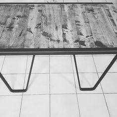 Réalisé avec nos pieds de table style palette SNCF #palettesncf #tablebasse #madeinnormandie