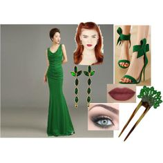 Green Ivy by sarabray on Polyvore featuring polyvore fashion style Posh Bride WithChic Yves Saint Laurent Coppola e Toppo