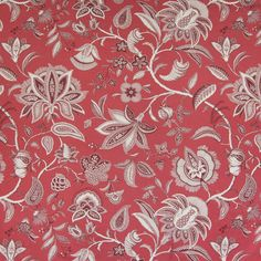 Excited to share this item from my #etsy shop: P Kaufmann FIELD of DREAMS Jacobean Floral MERLOT Red Drapery Sewing Fabric - Sold By the Yard Pillow Slip Covers, Decorative Pillow Covers, Floral Print Fabric, Floral Prints, Greenhouse Fabrics, Toile Wallpaper, Field Of Dreams, Blue Home Decor, Jacobean