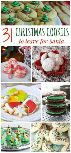 31 christmas cookies to leave for santa