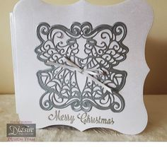 #Christmas #card created using Die'sire Create-a-Card dies from…