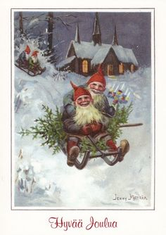 peintre illust jenny nystrom - Page 13 Norway Christmas, Norwegian Christmas, Scandinavian Christmas, Christmas Art, Beautiful Christmas, Christmas Decorations, Christmas Gnome, Fantasy Dwarf, Christmas Illustration