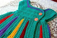 Teal Eloise Rainbow bebé suéter / único bebé regalo por WychburyAve