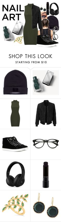 """""""Nail Art #1"""" by panenguin ❤ liked on Polyvore featuring beauty, Puma, Burberry, LE3NO, Gianvito Rossi, Beats by Dr. Dre, MAC Cosmetics, Allurez and Lana"""