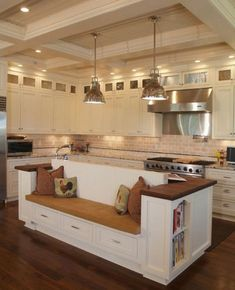 Are you looking for some amazing ideas for your new kitchen backsplash? Installing a new backsplashk is a great way to update your kitchen without going through a full remodel. Home Kitchens, Kitchen Remodel, Kitchen Benches, Kitchen Design, Farmhouse Kitchen, Farmhouse Kitchen Island, Kitchen Island Design, Kitchen, Kitchen Interior