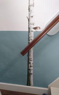 Foto interieur.  Kleur > Energizing Lake | Flexa +  Sticker boom van KEK Interior Design Living Room, Bedroom Decor, Paint, Decorating, Tv, Kids, Home Decor, Homemade Home Decor, Picture Walls