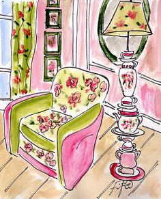Tea Time Chair by fififlowers on Etsy, $25.00