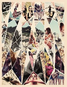 Shattered, triangular collage. I dig it.