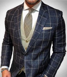 Inspired Looks For An Elegant Man Picture Description - Sharp Dressed Man, Well Dressed Men, Mens Fashion Suits, Mens Suits, Fashion Menswear, Stylish Men, Men Casual, Mode Man, Moda Formal