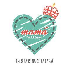 Logo Patidifusa para el día de la madre, ¡porque eres la reina de la casa!
