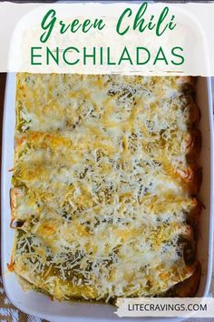 With just a few pantry and refrigerator items, you can throw together these flavorful Green Chili Enchiladas in no time! Simple, inexpensive, and delicious. Green Chili Enchiladas, Green Chicken Enchiladas, Chicken Enchilada Bake, Turkey Enchiladas, Ww Recipes, Healthy Dessert Recipes, Turkey Recipes, Mexican Food Recipes, Dinner Recipes