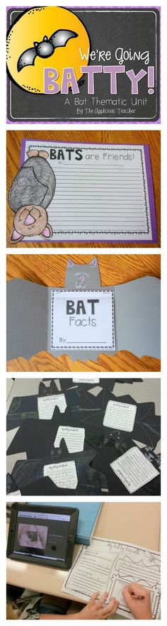 Bat Thematic Unit- Have fun this spooky season while learning about the fascinating bat! This pack has it all! Writing responses, information cards, report writing, summarizing. Perfect addition to your Bat unit. $