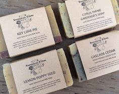 Goat Milk Soap - Variety Soap Set - All Natural Soap - Essential Oil Soap - Artisan Soap - Cold Process Soap - 4 Large Bars of Homemade Soap