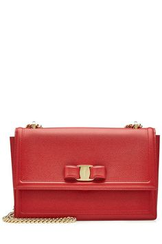 New Salvatore Ferragamo Leather Shoulder Bag fashion online. [$929]>> offer from shophandbags<<