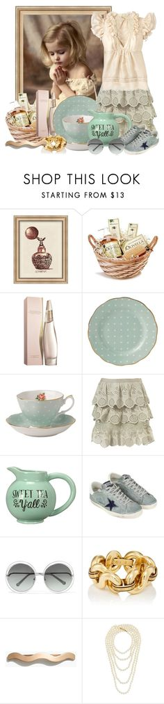 """""""Sweet Tea, Y'all!!"""" by mimi1207 ❤ liked on Polyvore featuring Pottery Barn, Olive, Donna Karan, Royal Albert, Young's, Golden Goose, Chloé, Madewell, Chanel and vintage"""