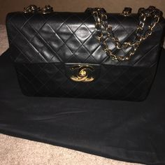 Chanel half flap Bag Lamb skin vintage Chanel bag! Only selling because it's passed its 90 day return. I've never worn it because I have a maxi classic flap! CHANEL Bags