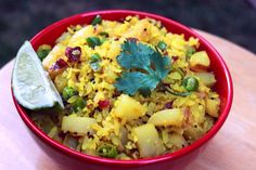 #Poha is normally used to prepare snacks or light and easy fast food in a variety of #Indian #cuisine styles. This easily digestible form of raw rice is very popular across #Maharashtra. #food #breakfast #cooking