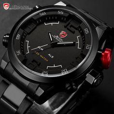 Official Shark Gulper Digital Quartz LED Men's Military Army Sport Watch