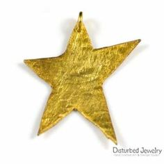 This is a sterling silver 925 handcrafted star pendant. It looks like melting and it is plated with yellow gold. Has mixed brush finish and delivered with black adjustable cord of flax, with tiny crystals. Star Pendant, Cord, Plating, Pendants, Sterling Silver, Crystals, Yellow, Black, Cable