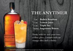 Cocktail recipe, courtesy of Bulleit bourbon.