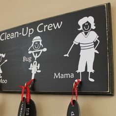 Family Chore Chart - distressed wood sign on Etsy, $40.00