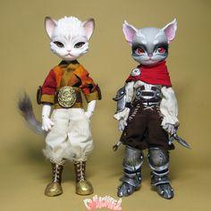 Freyr and Freya, Hujoo doll customs by Dollightful ❤ 휴쥬 프레어 인형 리페인팅