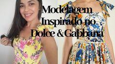 MODELAGEM INSPIRADA NO VESTIDO DOLCE & GABBANA| MARIA CONDESSA Dolce & Gabbana, Vestidos Dolce Gabbana, Amalia Rodriguez, Youtube, Blouse, Teacher, Women, Fashion, Romper Outfit