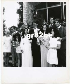 Candid Dean Martin Daughters Wedding B & W Photo